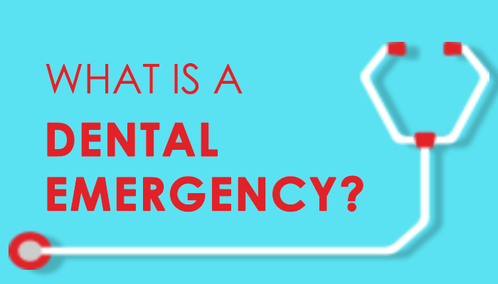 """Graphic of the title name of the blog """"What is a dental emergency?"""""""