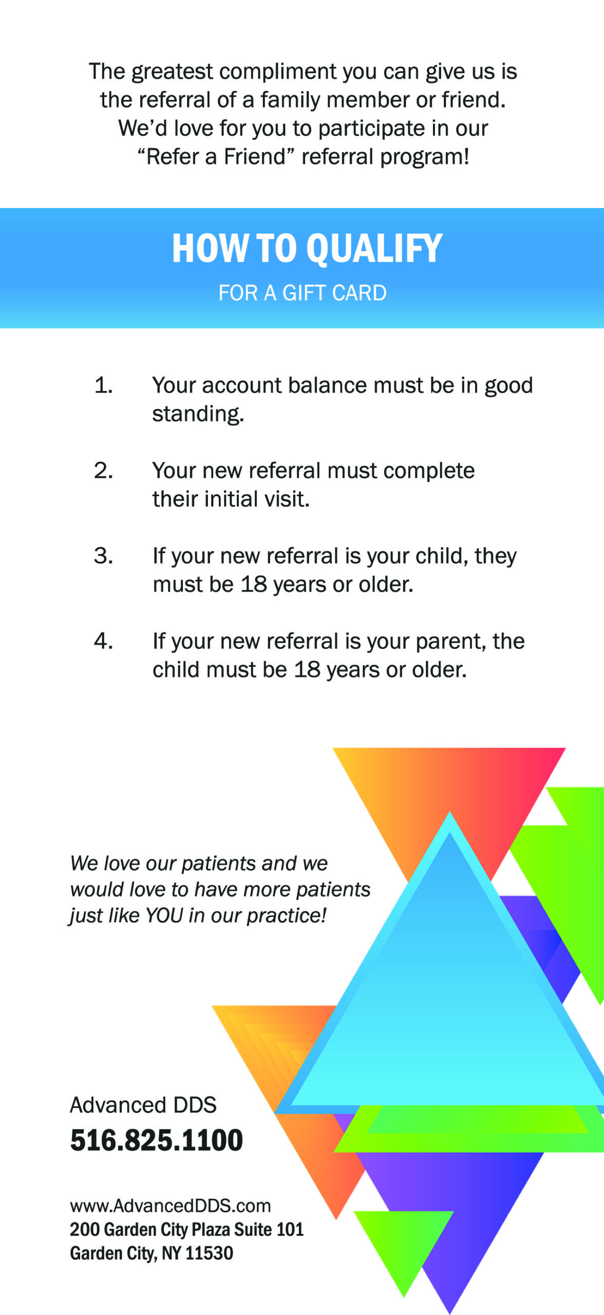 Referral Program Flyer Back 4x9