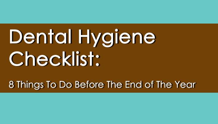 dental hygiene checklist title image