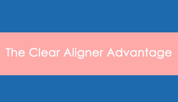 """header image that reads """"the clear aligner advantage"""""""