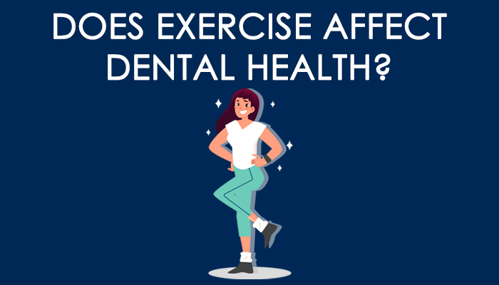 """header image that states """"does exercise affect dental health?"""""""