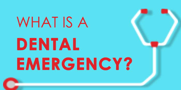 "Graphic of the title name of the blog ""What is a dental emergency?"""