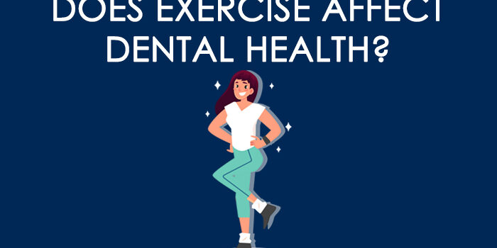 "header image that states ""does exercise affect dental health?"""