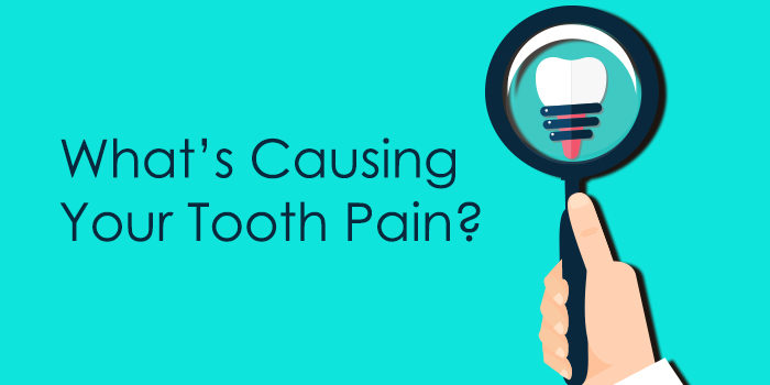 "Title image graphic ""tooth pain causes"""